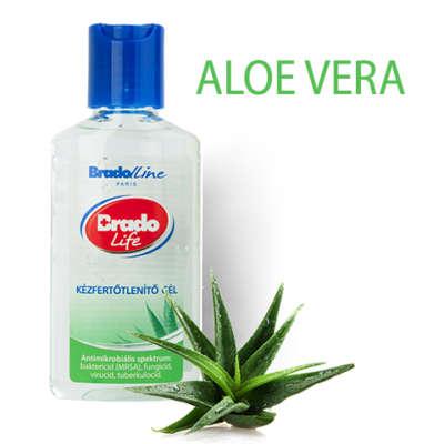 BradoLife kézfertotleníto gél - Aloe Vera