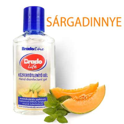 BradoLife kézfertőtlenítő gél - Sárgadinnye